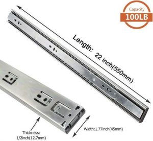 7. LONTAN 4502S3-22 Metal Drawer Slides